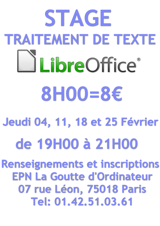 Gimp et libre office au programme de l epn en f vrier - Office traitement de texte ...